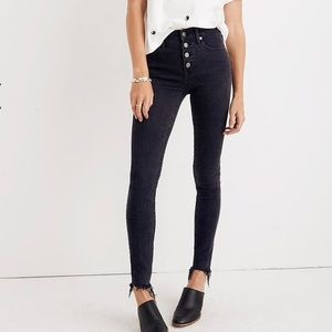 Madewell | 9' Highrise Button Fly Skinny Jeans